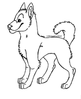 Free Canine Lineart by MichelsAdoptions