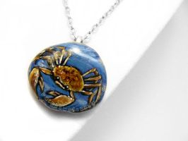 Cancer Zodiac Pendant by sobeyondthis