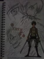 An attempt in sketching Eren Jaeger. by 13Kitty95