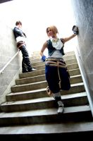 Squall and Zidane, Chillin by Lionheart185