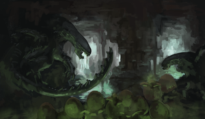 Infested Alien Cave by Adzerak