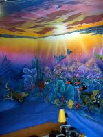 Under sea wall by shinng