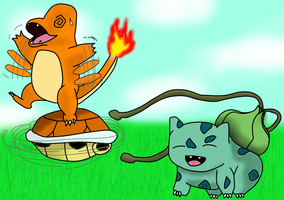 Pokemon Starters by HalsWarrior