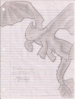 Toothless... on Binder Paper by Gothar-is-Rodge