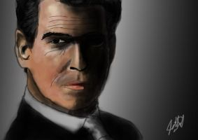 Pierce Brosnan Bond by k4k7uz
