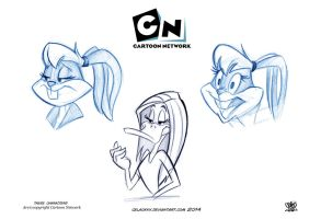 W.B looney tunes show sketch by celaoxxx