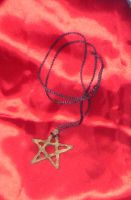 Rustic pentacle carved by luna-plateada