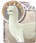 nouveau alpacacorn by shakusaurus