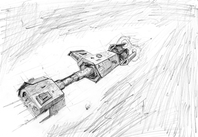 PX-01 Pencil Sketch by Gookins
