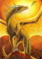 Golden Dragon by Deygira-Blood