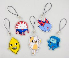 Adventure Time and Catbug Keychains by EatinIce