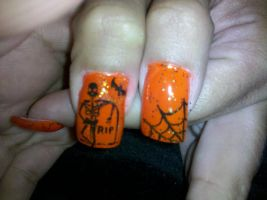 Halloween - Nail Art by DignifiedDoll