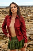 Laura - red shirt 1 by wildplaces