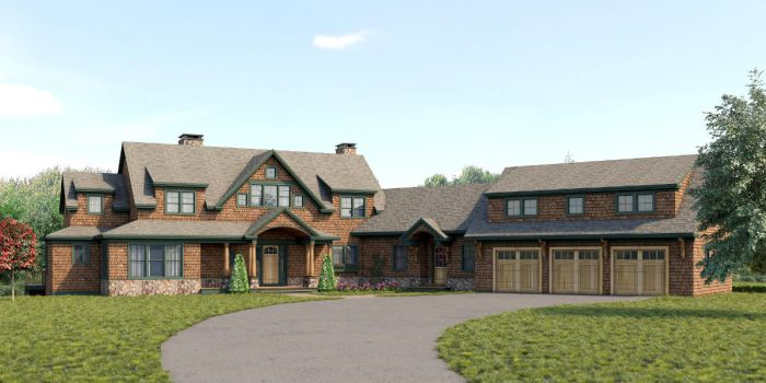 Evasius Lake House Front Rendering by zodevdesign