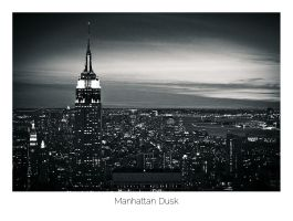 Manhattan Dusk by AlexMarshall