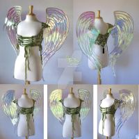 Gregangelo's Iridescent Angel Fairy Wings by FaeryAzarelle