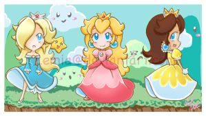 Super Mario Girls by LemiaCrescent