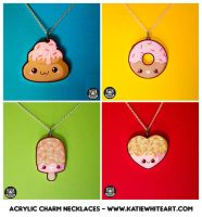 Acrylic Charm Necklaces - Sugar-Cute Collection by pai-thagoras