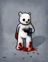 Bear with Gun Hand: Bad Idea by lukechueh