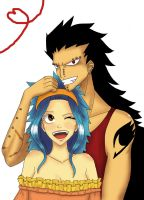 Fairy Tail - Gajeel And Levy by Saunellia