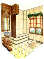 Modern Tropical Small Bathroom by shinvan