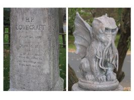Lovecraft Headstone - Detail by atsouza
