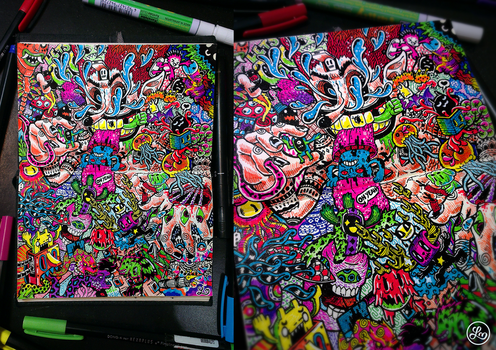 Doodle Mad Clown by LeiMelendres