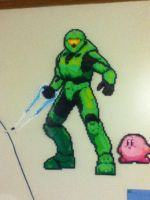 Master Chief Perler Beads by coldplay3277