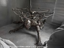 The Metal Spiderman table by Kreatworks
