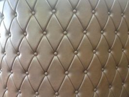 Leather couch , with buttons white by GlitterRainbowPower