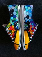 Jessman5 custom shoes. [The Resistance. MUSE] by Jessman5