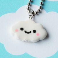 Kawaii Cloud Necklace by AsianBunni