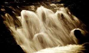 Sepia Waterfalls by DynOpt