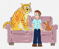 One Man, his Dog and a Tiger by SuperAshBro