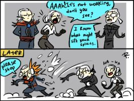 The Witcher 3, doodles 138 by Ayej