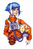 X-Wing Fighter Pilot by chrissie-zullo
