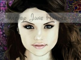 Selena Gomez colored by JunebugHardee