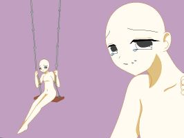 Sad Anime girl Base by Tadahashi