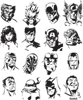 NEW STYLE FACES by jerkmonger
