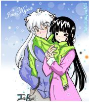 InuKyo Snow of Love + Colors by MikoKikyou105
