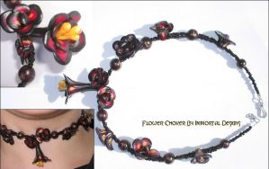 Flower Choker by immortaldesigns