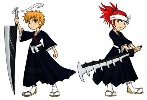 Bleach - Ichigo and Renji by akiwitch