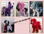 Happy valentines Day Mlp plushie by CINNAMON-STITCH