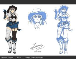 Cowgirl Character Design by LRTurner