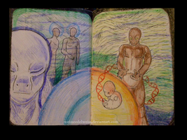 Sketch Book Project  Reptilians Pgs 3 and 4 by WeisseEdelweiss