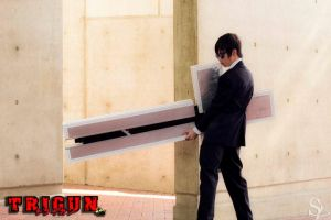 Trigun: Nicholas D. Wolfwood Cross Punisher by RaikouCos