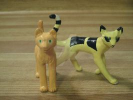 Custom Made Firestar and Longtail figures! by No1AceAttorneyFan