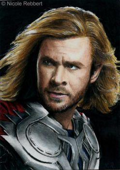 Thor sketch card by Quelchii