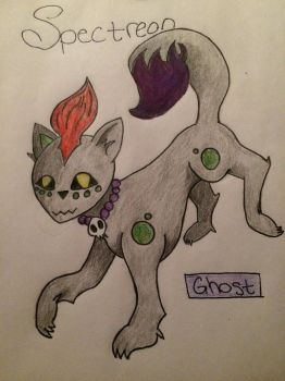 Fan Pokemon: Ghost-Type Eeveelution - Spectreon by Ivy010