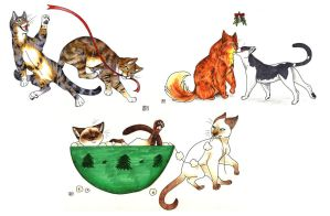 Christmas Cats by tigrin